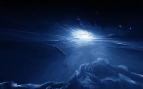 Картинка космос, планета, звёзды, starkiteckt