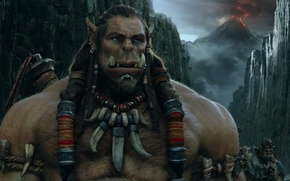 Картинка cinema, sword, fantasy, game, Warcraft, Blizzard, sky, cloud, mountain, rpg, movie, ken, fang, clan, lava, …