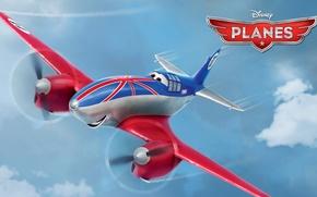 Картинка Walt Disney, action, adventure, Cars, анимация, Бульдог, wings, Уолт Дисней, крылья, air race, воздушные гонки, …