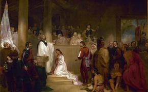 Картинка картина, живопись, painting, Baptism of Pocahontas