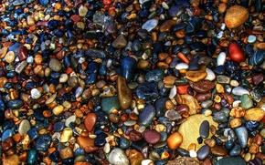 Картинка море, камни, цвет, камушки