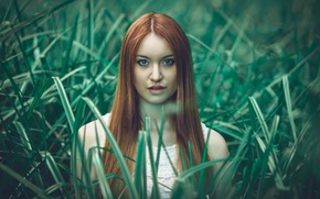Картинка Girl, World, Beautiful, fashion, Another, Redhead, Vegetation