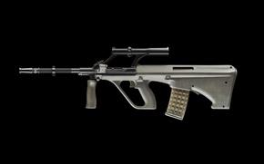 Обои оптика, aug, магазин, армейская универсальная винтовка, фон, Armee Universal Gewehr, автомат