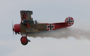 Картинка истребитель, войны, триплан, сил, мировой, Германии, Первой, Fokker Dr.I, во время, военно-воздушных