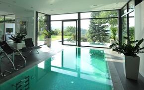 Картинка вилла, интерьер, бассейн