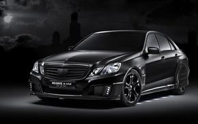 Обои черный, тюнинг, Mercedes-Benz, E V12, Brabus