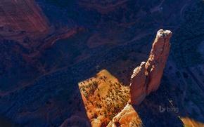 Картинка горы, природа, скала, Аризона, США, Spider Rock, Canyon de Chelly National Monument