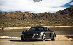Картинка Audi, black, tuning, V10, eGarage, r8
