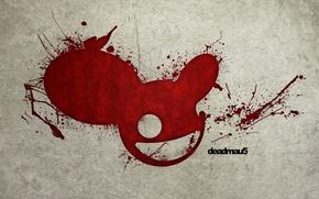 Картинка мышь, кровь, deadmau5, DJ Deadmau5, дедмаус, диджей, пятна