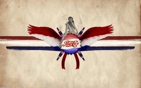 Картинка девушка, крылья, напиток, Пепси-кола, Pepsi-Cola