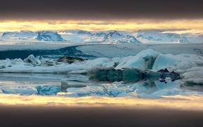 Картинка снег, горы, лёд