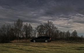 Картинка песок, небо, пасмурно, черный, honda, accord, wagon, универсал, K24