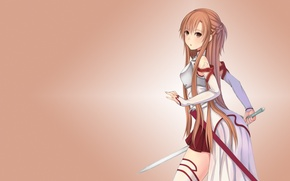 Обои меч, мастера меча онлайн, Sword Art Online, Асуна Юки