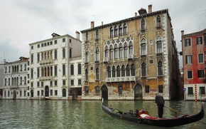 Картинка Канал, Венеция, Гондола