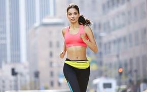 Картинка fitness, running, sportswear, Shanina Shaik