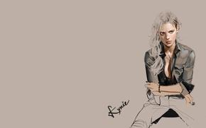 Картинка девушка, настроение, набросок, арт