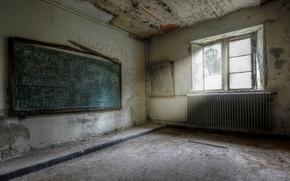 Обои клас, доска, окно