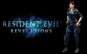 Картинка girl, gun, pistol, biohazard, weapon, boobs, breast, Resident Evil, Capcom, tits, knife, suit, Jill Valentine, …