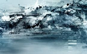 Обои фантастика, обоя, абстракт, синий