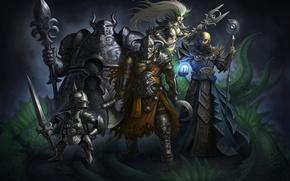 Картинка Доспехи, Магия, Мечи, Воители, Heroes Villains, Посохи