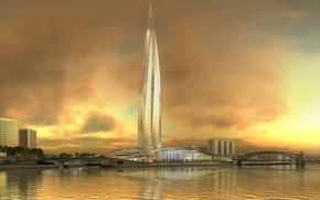 Картинка Санкт-Петербург, питер, небоскрёб, Охта-центр, Газпром-сити