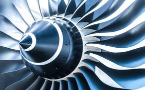 Обои абстракция, двигатель, арт, airplane, engine, самолета, турбовинтовой, wallpaper., turbine