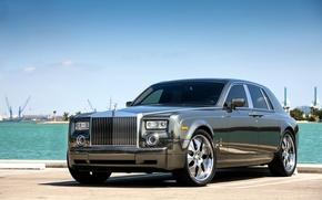 Обои Rolls-Royce, Phantom, Wheels, Hrome