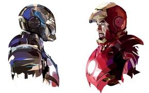 Обои iron man, tony stark, marvel, mark 3, armor, comic, mark 2