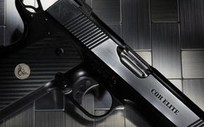 Картинка пистолет, оружие, фон, Wilson, CQB Elite