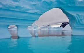Картинка лед, зима, море, вода, снег, обои, айсберг