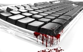 Обои Клавиатура, кровь