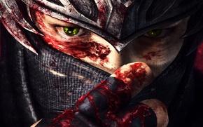 Картинка глаза, кровь, Игра, арт, Ninja Gaiden 3