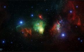 Обои звезды, туманность, арт, созвездие, nebula, бесконечность