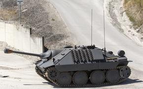 Картинка установка, самоходная, артиллерийская, САУ, лёгкая, немецкая, hetzer