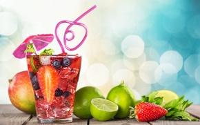 Обои fruit, paradise, drink, beach, пляж, cocktail, sea, море, коктейль, фрукты, summer, tropical, fresh