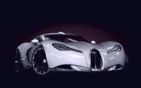 Картинка Concept, Бугатти, Концепт, Bugatti, Спорткар, Sportcar, Gangloff, Ганглофф