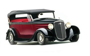 Обои автомобиль, 1935, chevrolet, chevy, phaeton, hot rod