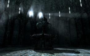 Картинка игры, фонтан, вампиры, skyrim, скайрим, tes, dawnguard, Молаг Бал, даэдра