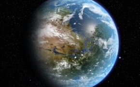 Картинка звезды, жизнь, океан, планета, атмосфера, Марс
