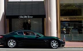 Картинка green, Maserati, зеленая, магазин, мазерати