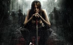 Картинка cinema, horror, zombie, blood, zombies, panic, ocean, woman, water, people, movie, ship, evil, film, shadows, …