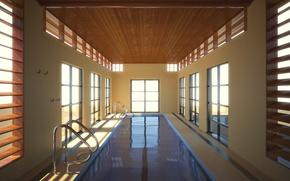 Картинка комната, здание, Вода, бассейн
