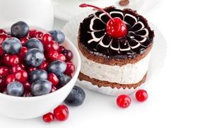 Обои ягоды, еда, пирожное, десерт, сладкое