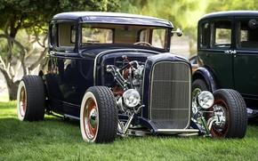 Обои Ford, передок, hot-rod, ретро