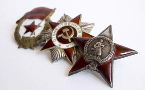 Картинка Победа, ВОВ, ордена, 1941 - 1945г, Отечественной войны, Награды, Гвардия, Красной звезды