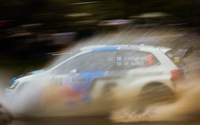 Картинка вода, брызги, volkswagen, rally, Argentina, wrc, polo, JM Latvala, 2013