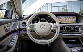 Обои панель, Mercedes-Benzs, руль, салон, concept