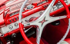 Картинка руль, 1960, Dodge, салон