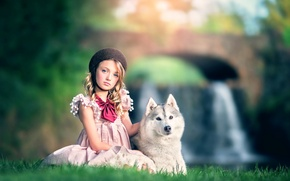 Картинка собака, девочка, Ashlyn Mae