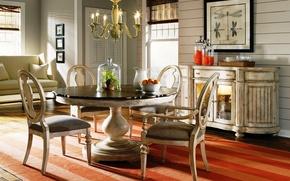 Картинка vintage, wood, interior, dining room, antique style